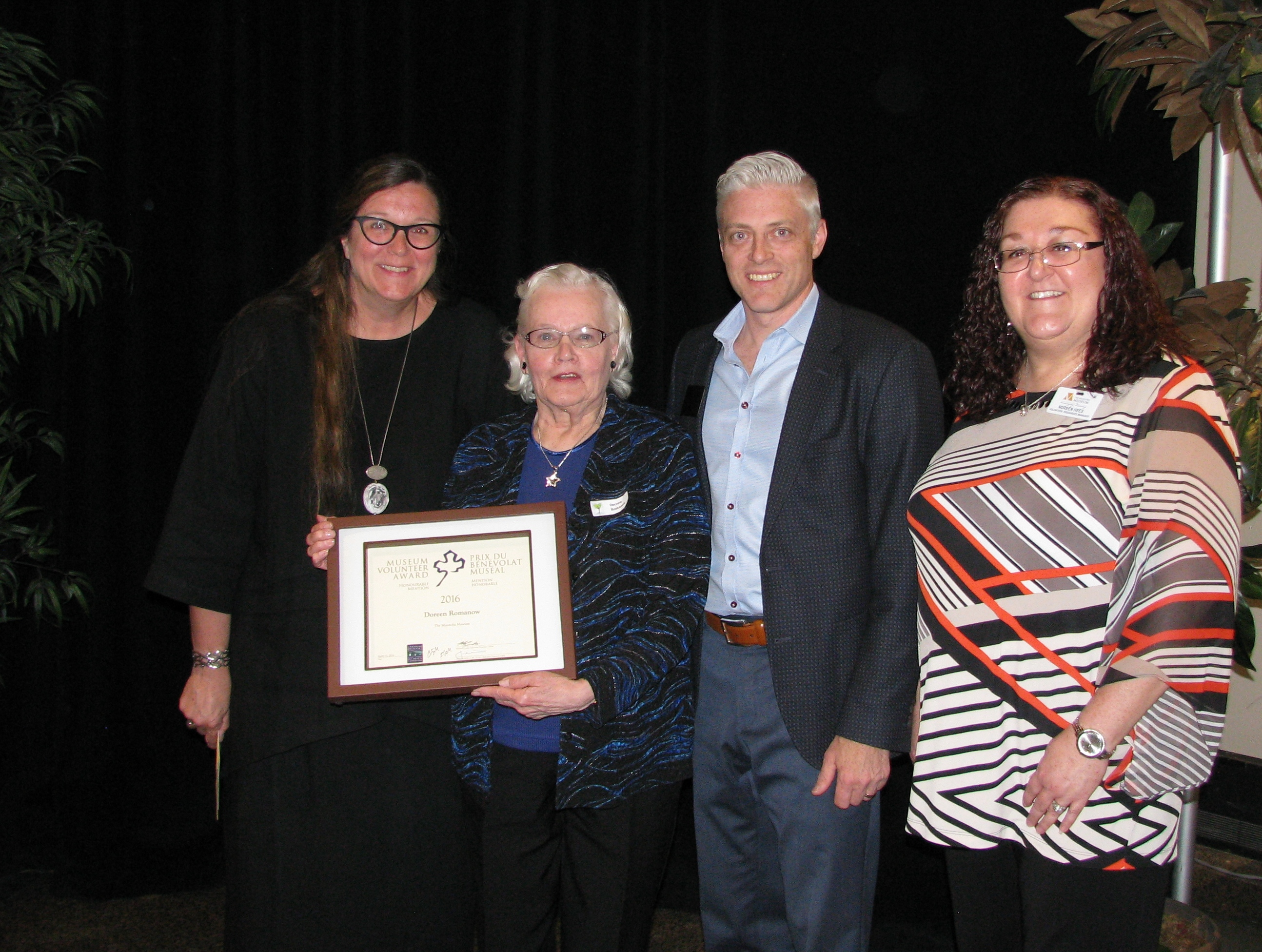 Doreen Romanow - Museum Volunteer of the Year Honourable Mention Awarded